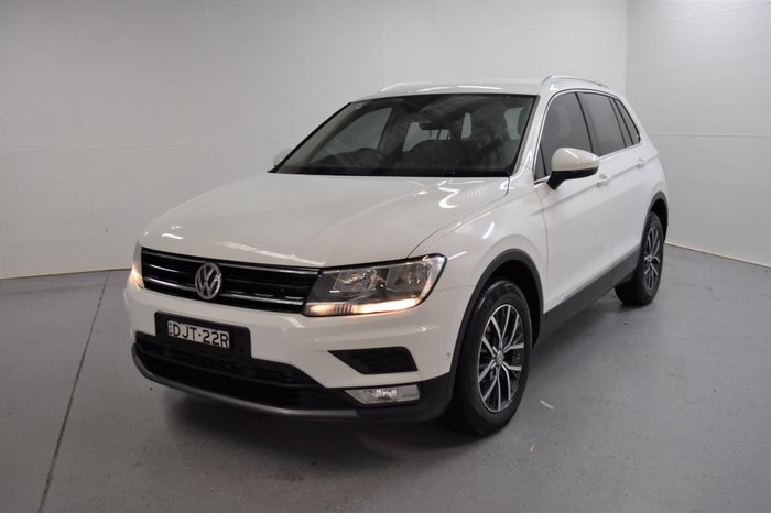 2016 Volkswagen Tiguan 132TSI Comfortline 5N MY17 Four Wheel Drive Pure White