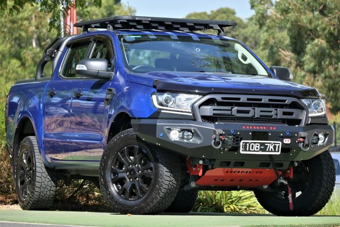 2018 Ford Ranger XLT PX MkIII MY19 4X4 Dual Range Lightning Blue
