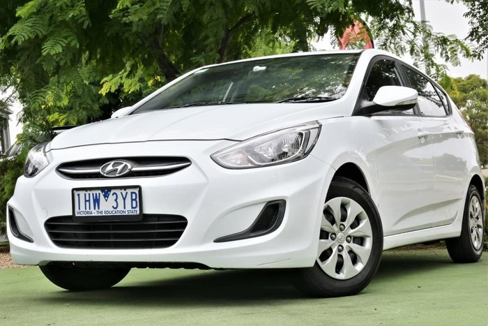 2016 Hyundai Accent Active RB4 MY16 Crystal White