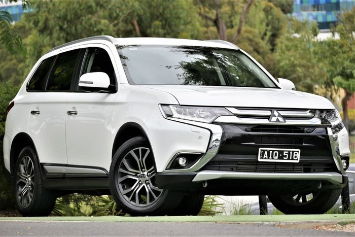 2016 Mitsubishi Outlander Exceed ZK MY17 4X4 On Demand White