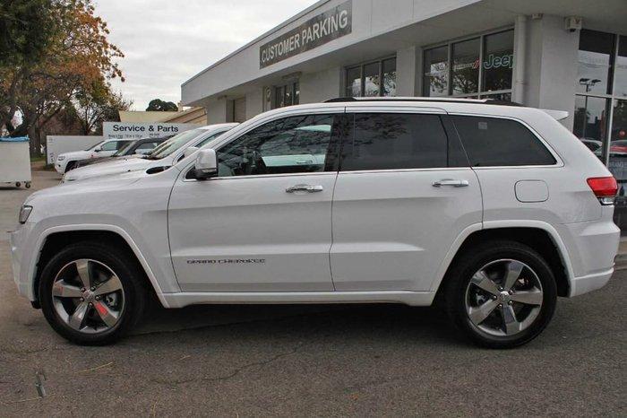 2016 Jeep Grand Cherokee Overland WK MY15 4X4 Dual Range White