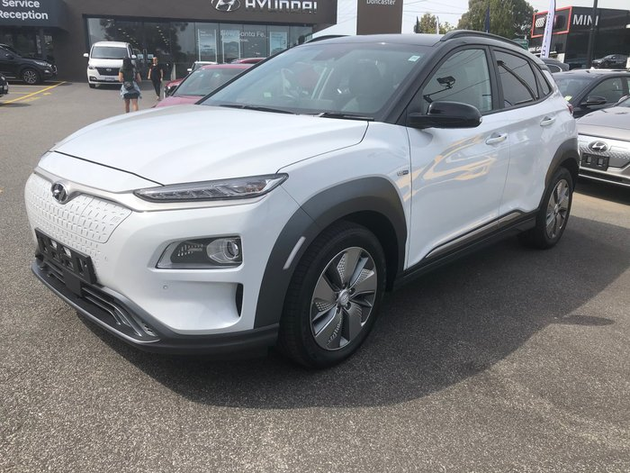 2020 Hyundai Kona electric Highlander OSEV.2 MY20 Chalk White