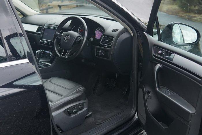 2016 Volkswagen Touareg 150TDI Element 7P MY17 Four Wheel Drive Black