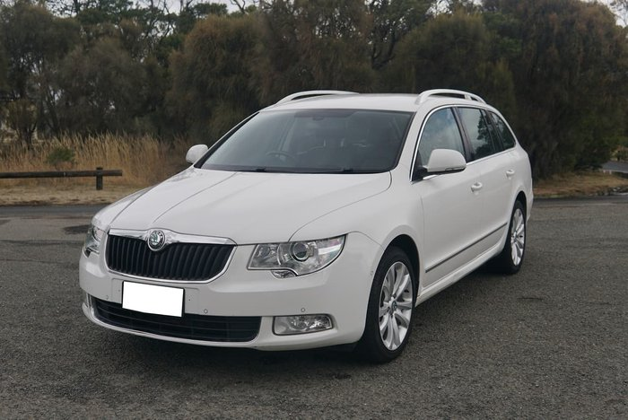 2012 SKODA Superb Elegance 125TDI 3T MY12 White