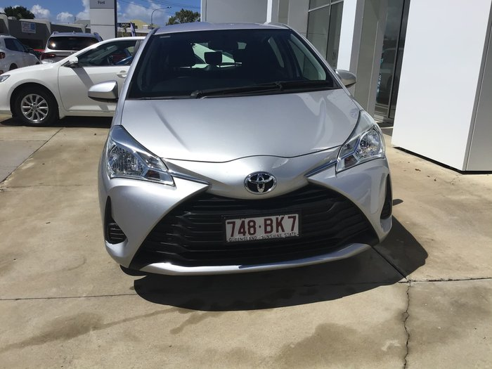 2017 Toyota Yaris Ascent NCP130R Silver Pearl