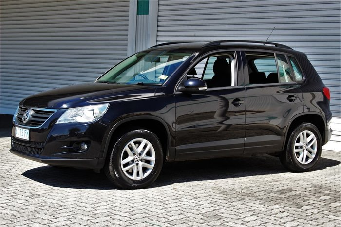 2008 Volkswagen Tiguan 103TDI 5N Four Wheel Drive Black