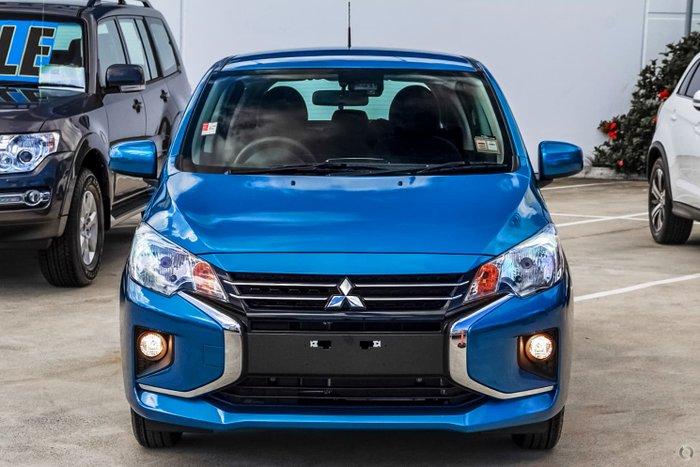 2021 Mitsubishi Mirage ES LB MY22 Cyber Blue