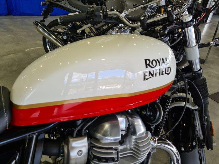 2021 Royal Enfield Interceptor 650 650 Twin Orange Crush; Silver Spectre or Mark Three; (Custom Colour options $8,840 Baker Express or Ravishing Red; Chrome Colour options - $9,140 Glitter & Dust)