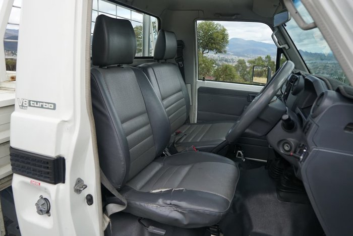 2010 Toyota Landcruiser Workmate VDJ79R MY10 4X4 Dual Range White