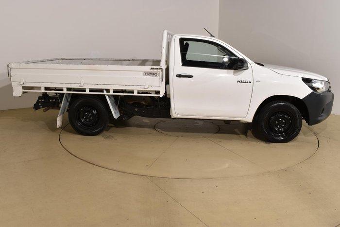 2016 Toyota Hilux Workmate TGN121R Glacier White