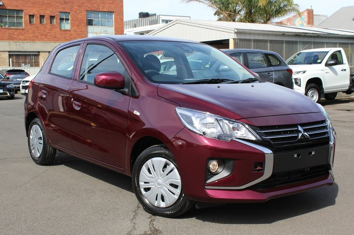 2021 Mitsubishi Mirage ES LB MY21 Wine Red