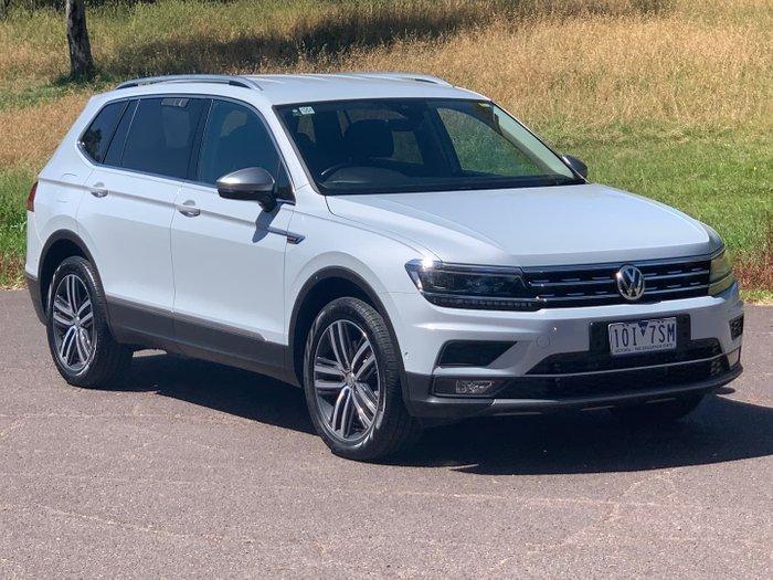 2018 Volkswagen Tiguan 162TSI Highline Allspace 5N MY19 Four Wheel Drive White Silver