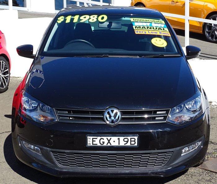 2010 Volkswagen Polo 77TSI Comfortline 6R MY11 Deep Black
