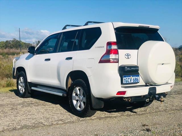 2016 TOYOTA Landcruiser Prado GX GDJ150R GX Wagon 5dr Spts Auto 6sp 4x4 2.8DT WHITE