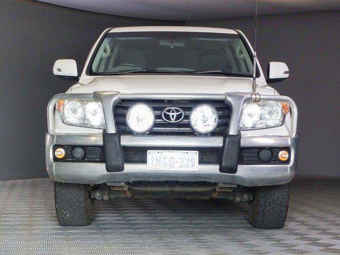 2012 Toyota Landcruiser GXL VDJ200R MY10 4X4 Constant Glacier White