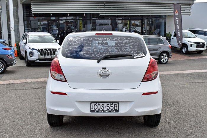 2014 Hyundai i20 Elite PB MY14 Coral White