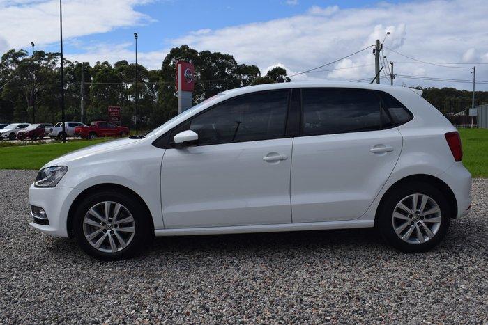 2015 Volkswagen Polo 81TSI Comfortline 6R MY15 Pure White