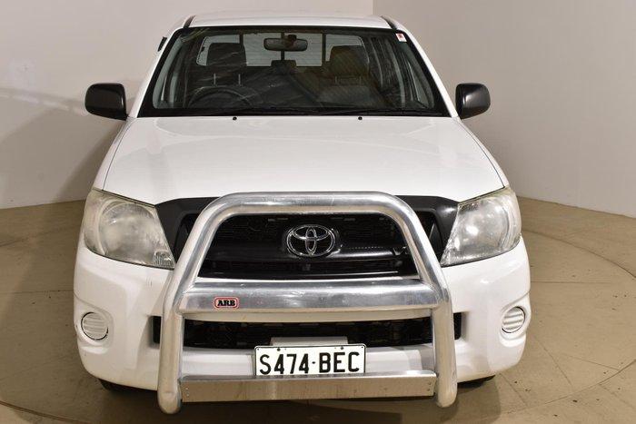 2010 Toyota Hilux SR GGN15R MY10 Glacier White