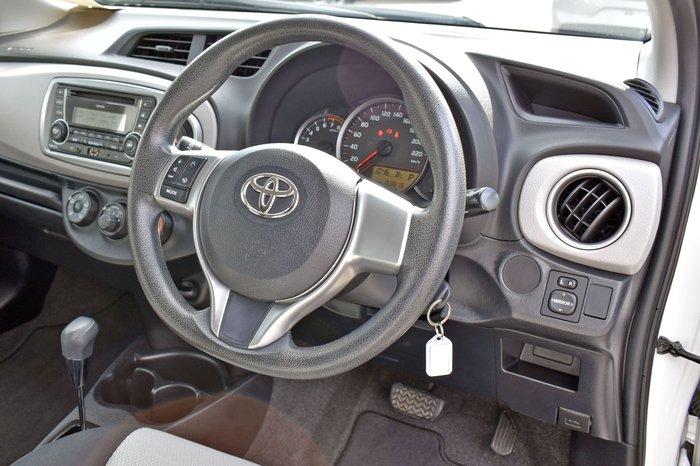 2013 Toyota Yaris YR NCP130R Glacier White