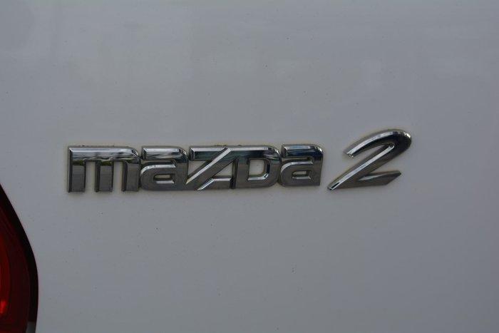 2011 Mazda 2 Genki DE Series 2 MY12 Crystal White Pearl