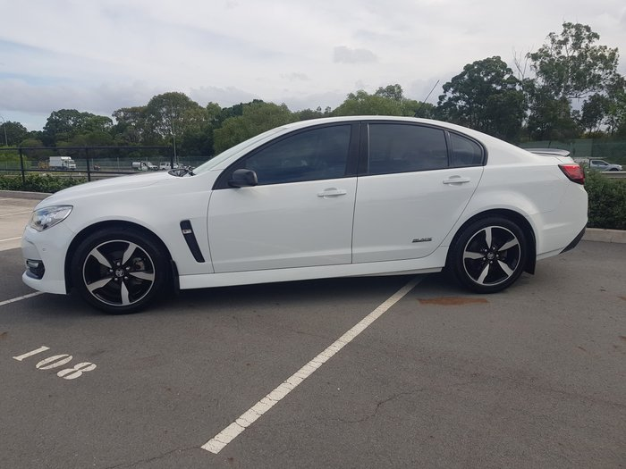 2016 Holden Commodore SV6 Black VF Series II MY16 Heron White
