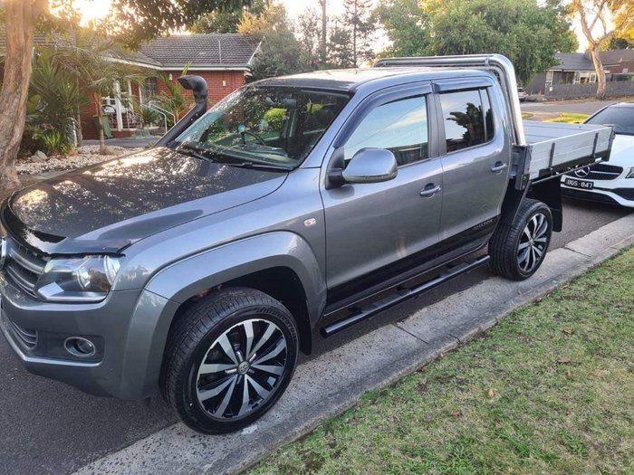 2014 Volkswagen Amarok TDI420 Highline 2H MY14 4X4 Constant Natural Grey