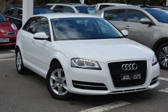 2013 Audi A3 Attraction 8P MY13 Ibis White