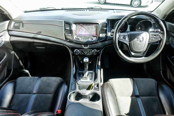 2016 Holden Commodore SV6 Black VF Series II MY16 Heron White