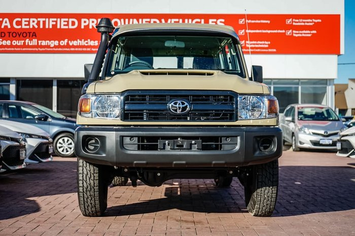 2021 Toyota Landcruiser Workmate Troopcarrier VDJ78R 4X4 Dual Range Sandy Taupe