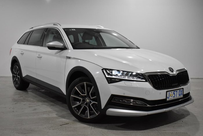 2020 SKODA Superb 200TSI Scout NP MY20.5 4X4 Constant Moon White