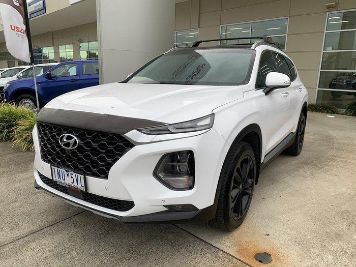 2018 Hyundai Santa Fe Highlander TM MY19 4X4 On Demand White