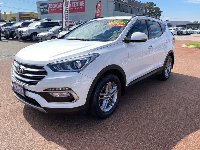 2017 Hyundai Santa Fe Active DM3 Series II MY17 4X4 On Demand Pure White