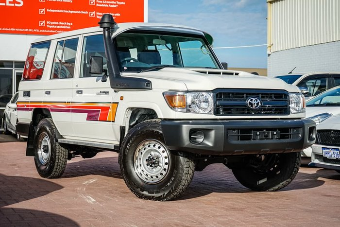 2021 Toyota Landcruiser Workmate VDJ76R 4X4 Dual Range French Vanilla