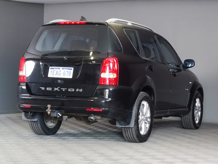 2012 SsangYong Rexton RX270 Y285 II MY10 4X4 On Demand Black