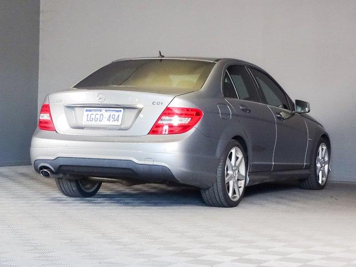 2012 Mercedes-Benz C-Class C250 CDI BlueEFFICIENCY Elegance W204 MY12 Silver