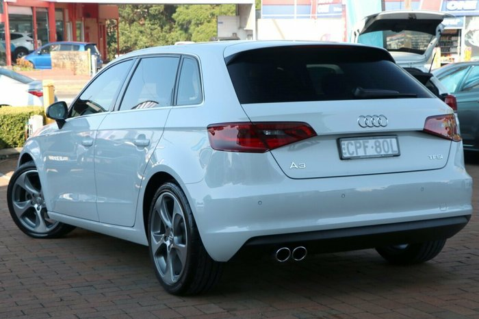2013 Audi A3 Ambition 8P MY13 WHITE
