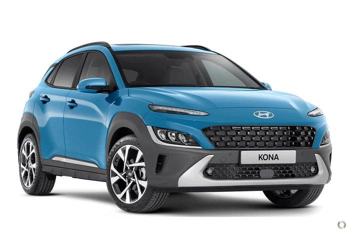 2021 Hyundai Kona Highlander OS.V4 MY21 Surfy Blue