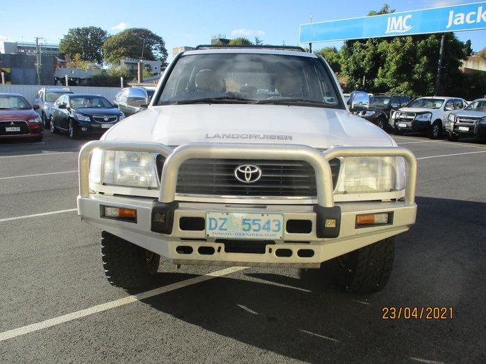 1998 Toyota Landcruiser GXL FZJ105R 4X4 Constant White