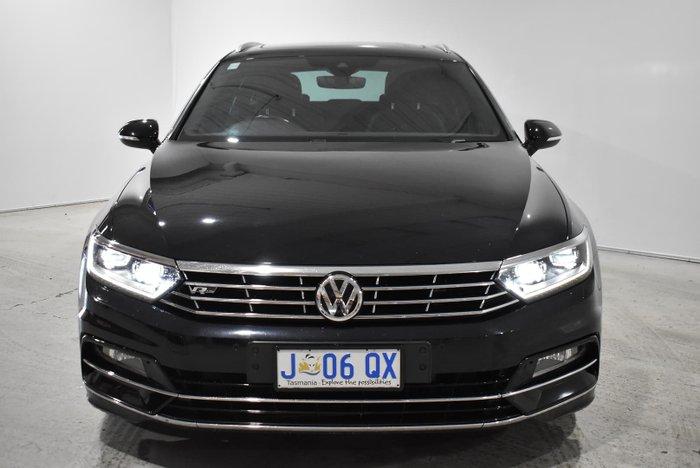 2017 Volkswagen Passat 206TSI R-Line B8 MY17 Four Wheel Drive Deep Black