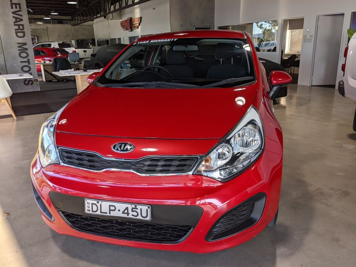 2013 Kia Rio S UB MY13 Signal Red