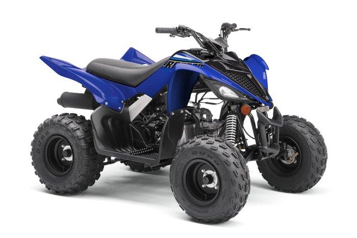 2021 Yamaha Raptor 90 (YFM90R) Raptor Team Yamaha Blue & White or Yamaha White