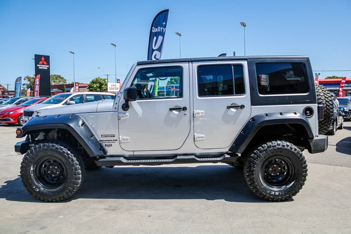2011 Jeep Wrangler Unlimited Sport JK MY12 4X4 Bright Silver