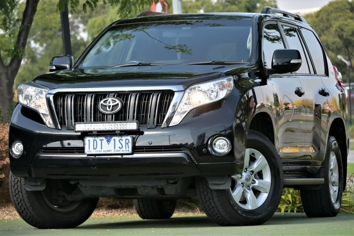 2014 Toyota Landcruiser Prado GXL KDJ150R MY14 4X4 Dual Range Black