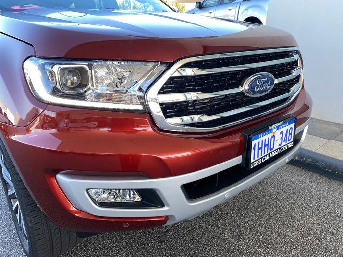 2020 Ford Everest Titanium UA II MY20.75 4X4 Dual Range Burgundy