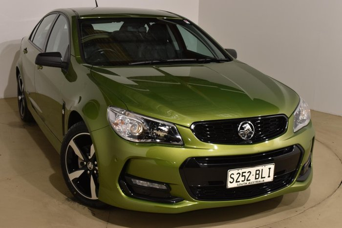 2016 Holden Commodore SV6 Black VF Series II MY16 Jungle Green