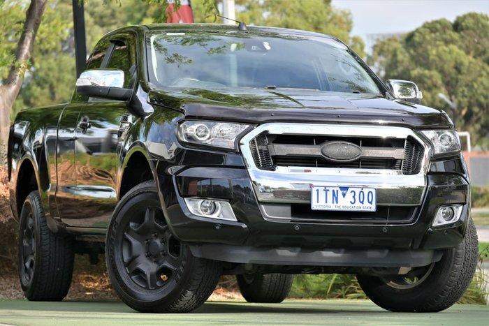 2017 Ford Ranger XLT PX MkII 4X4 Dual Range Jet Black