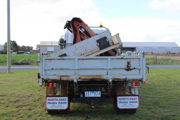 2012 Isuzu FSR850 CRANE / SIDE amp REAR TIPPER WHITE