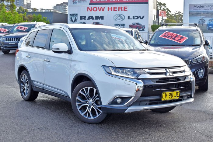 2015 Mitsubishi Outlander Exceed ZK MY16 4X4 On Demand White