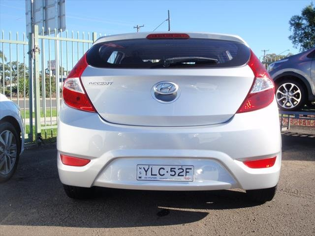 2016 Hyundai Accent Active RB3 MY16 Silver