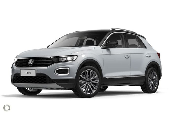 2021 Volkswagen T-Roc 110TSI Style A1 MY21 White Silver